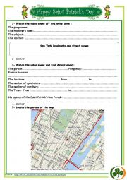English Worksheet: St Patrick´s Day Parade VIDEO