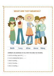 English Worksheet: Trendy Clothes