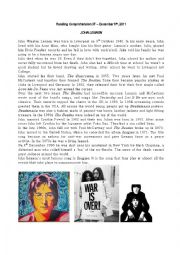 English Worksheet: John Lennon