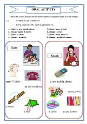 English Worksheet: ORAL ACTIVITY