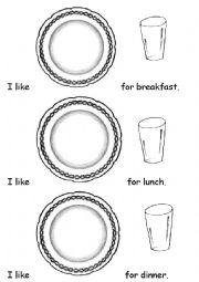English worksheet: I like....for breakfast