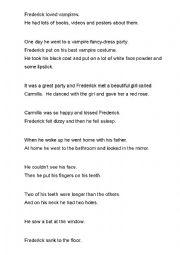 English Worksheet: Vampire Story_part