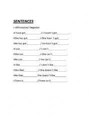 English Worksheet: Sentences explorers 3-4