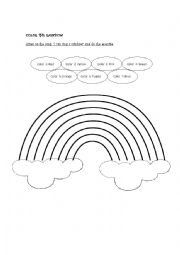 English Worksheet: the colors of the rainbow