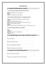 English Worksheet: Miscellaneous Structure and Language Functions Revision - New Interchange