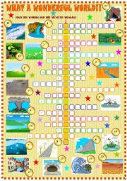 English Worksheet: Nature�s wonders: crossword puzzle