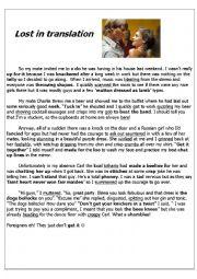 English Worksheet: Slang Story