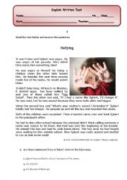 English Worksheet: Bullying: reading comprehension/ written test