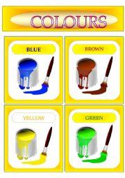 Colours. Flash-cards.