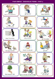 ... > irregular verbs exercises > Simple Past - Irregular verbs activity