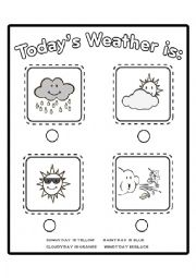 English Worksheet: Weather Conditions