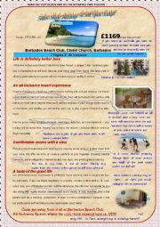 English Worksheet: HOLIDAY ADVERT(2ndpart)