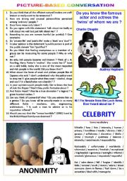 Picture-based conversation : topic 44 - celebrity vs anonimity