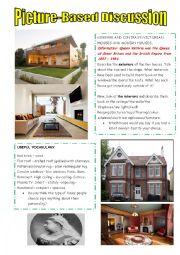 English Worksheet: Modern houses vs Victorian houses