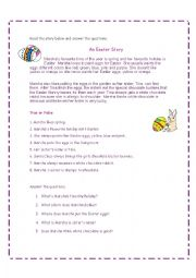 English Worksheet: Easter Story