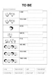 to be and personal pronouns