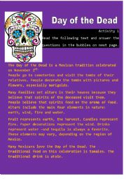 English Worksheet: Day of the Dead - Activity 1