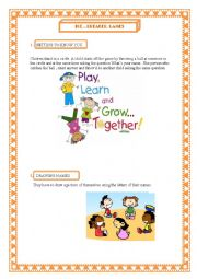 English Worksheet: Ice - breaker games.