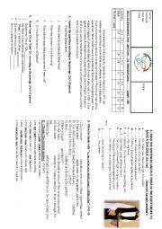 English Worksheet: 9th grade 1st exam