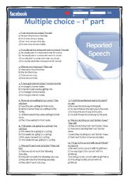 Multiple choice 1st part - Reported speech