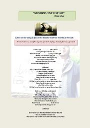English worksheet: Maher Zain (Number One For Me)