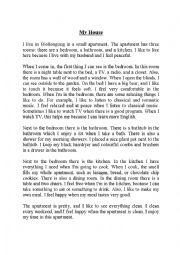English Worksheet: Description, My house