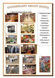 Vocabulary of shops
