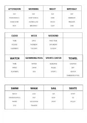 English Worksheet: Taboo Game with MOVERS vocabulary