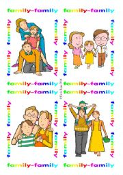 English Worksheet: Family Flash Cards: 89-100
