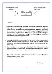English worksheet: mid term test 2