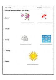 english worksheets the weather worksheets page 153. Black Bedroom Furniture Sets. Home Design Ideas