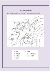 English Worksheet: my rainbow
