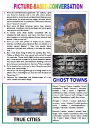 Picture-based conversation : topic 55 - ghost cities vs true cities