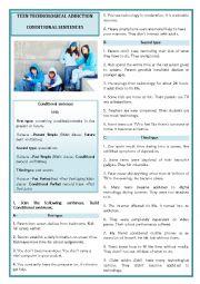 English Worksheet: TEEN TECHNOLOGICAL ADDICTION- CONDITIONAL SENTENCES