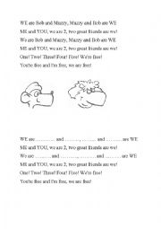 English Worksheet: Muzzy: We are Bob and Muzzy