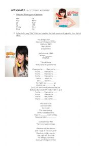 English Worksheet: Katy Perry Hot N Cold
