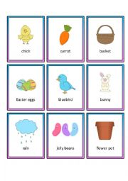 Easter Memory Cards with 27 Images