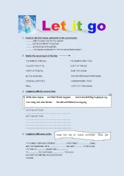 English Worksheet: Let it go ( by Demi Lovato)