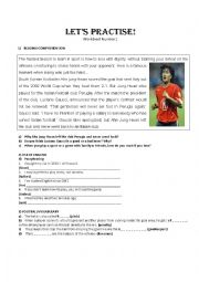 English Worksheet: Football soccer worksheet
