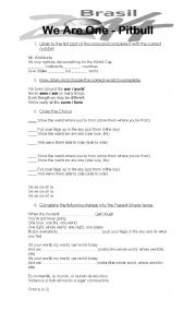 English Worksheet: FIFA world cup song 2014