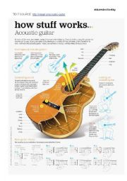 English Worksheet: CLIL task about the acoustic guitar