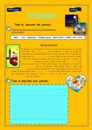 English Worksheet: WRITING 9 th form : TOURISM