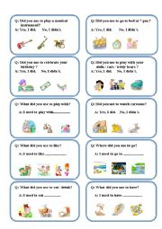 English Worksheet: QUESTIONS - ANSWERS Q.GAME - USED TO