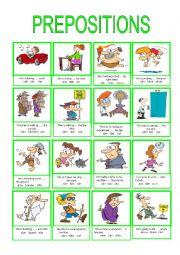 English Worksheet: PREPOSITIONS