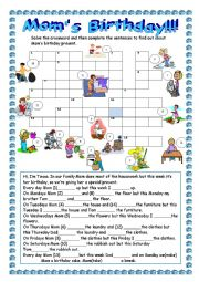 English Worksheet: Mom�s birthday