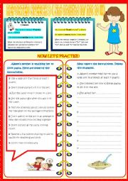 English Worksheet: REPORTED SPEECH 3 (COMMANDS)