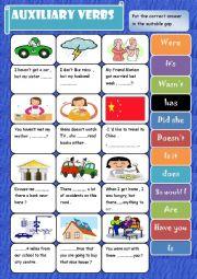 English Worksheet: Auxiliary verbs ( + keys )