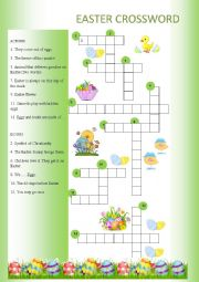 English Worksheet: Easter Crossword