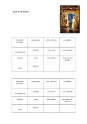 English Worksheet: Night at the museum Characters