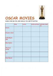 English Worksheet: Oscars